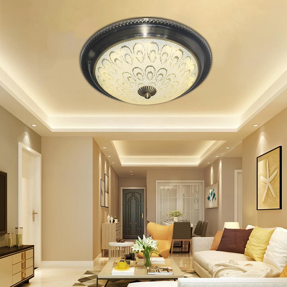 Vintage industrial iron glass Ceiling Lights Plafonnier LED 220V ceiling Lamp for Living room bedroom restaurant hotel hallway цена и фото