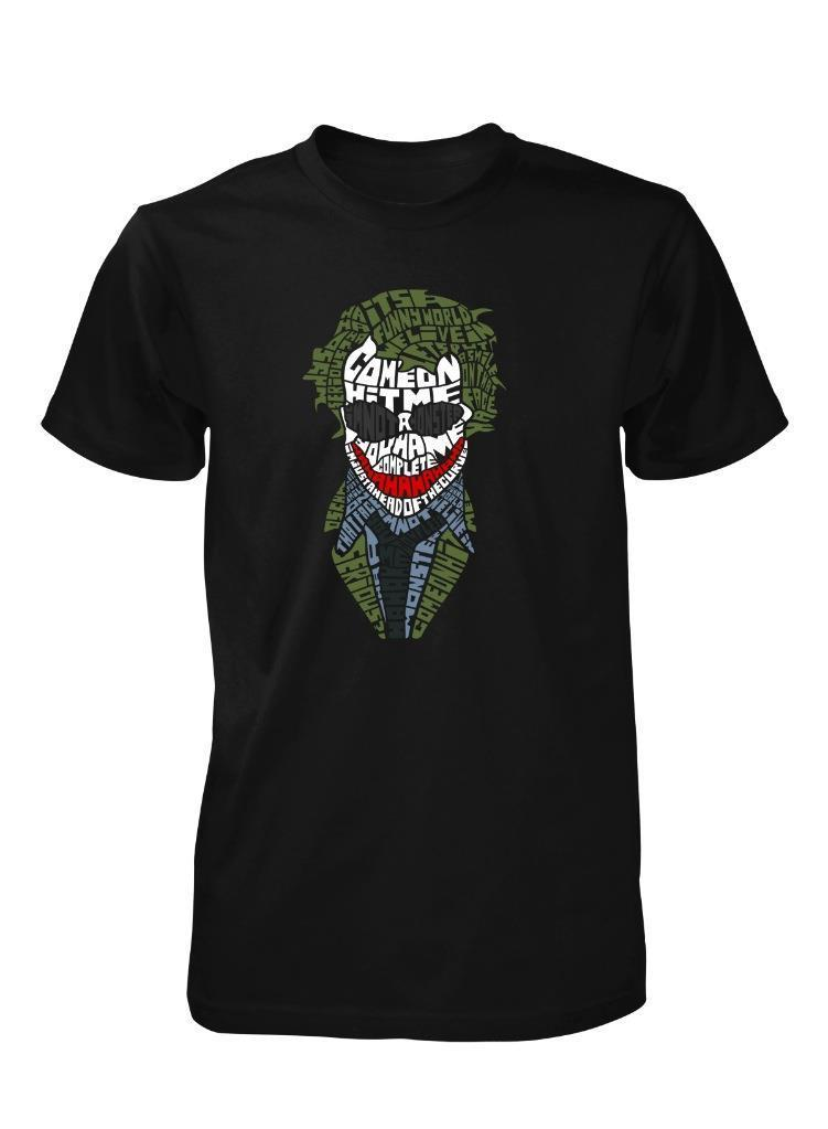 Brand Tees 2018 new brand T-shirt Hot Sale new clown enemy villain why so serious adult T-shirt movie Tee SHIRT