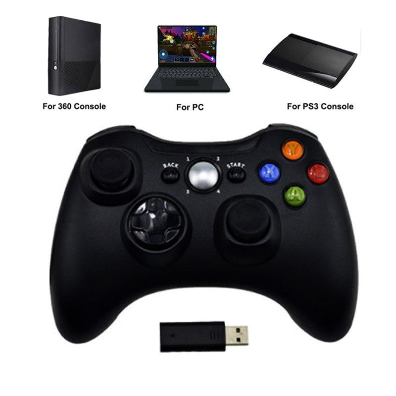 3 en 1 2,4 GHz controlador inalámbrico Bluetooth para Sony PS3 para Xbox 360 consola de juego Joystick Controle para PC win7 Win8 Win10