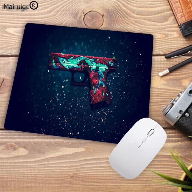 Mairuige Big Promotion Rubber Anti-slip Counter Strike Mice Mat DIY Computer Gaming Mouse Pad Cs Go Rubber 22X18CM 2