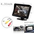 Assistência de estacionamento 4.3 Polegada TFT LCD jogador Tela 800*480 Do Monitor exibir Para A Câmera Reversa Do Carro VCR DVD Sistema de vídeo 2 entrada