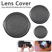 Protective Cap 49mm 52mm 55mm 58mm 62mm 67mm 72mm 77mm Camera Lens Cap Protection Cover Lens Front Cap for Canon Nikon DSLR Lens 52mm camera lens cap cover