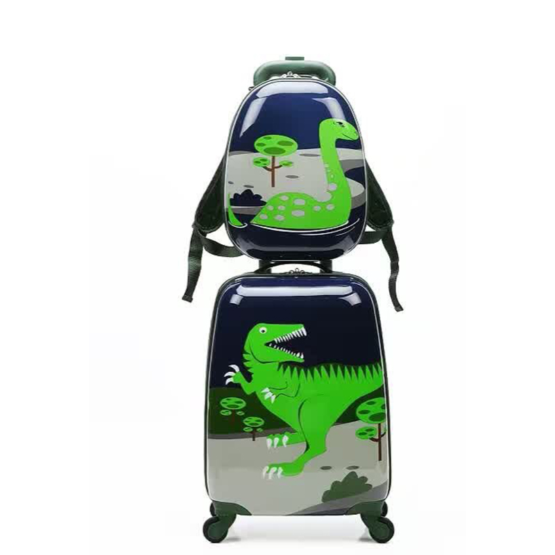 letrend cute dinossauro rolling luggage set spinner kids trolley children suitcase wheels 18