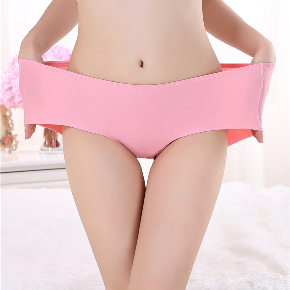 13 Colors Plus Size Women Sexy Panties Pink Seamless Lingerie Mid-Rise Push Up Underwear Multi-Colored Female Briefs Calcinha