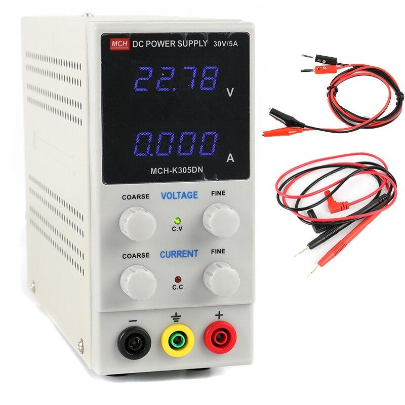30V 5A Switching DC Power Supply MCH K305DN Digital Adjustable Regulated 0.01V 0.001A Lab Power Supply 110V or 220V