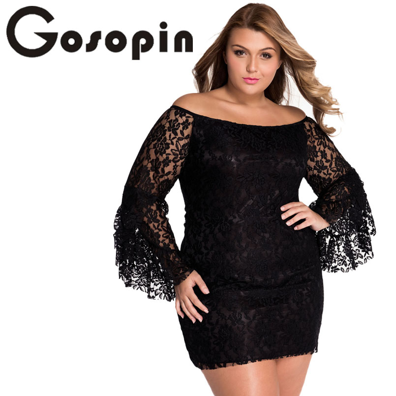 f2a4e2c40980 Gosopin Hot Selling Hollow Out Ladies Cream Lace Off The Shoulder Mini Dress  Sexy Autumn Women vestido de praia 2017 LC2809-in Dresses from Women s  Clothing ...