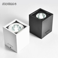 15 w Opbouw AC220V Dimbare LED Downlight COB LED Down Verlichting AC110V plafondlamp Wit/Zwart commerciële verlichting