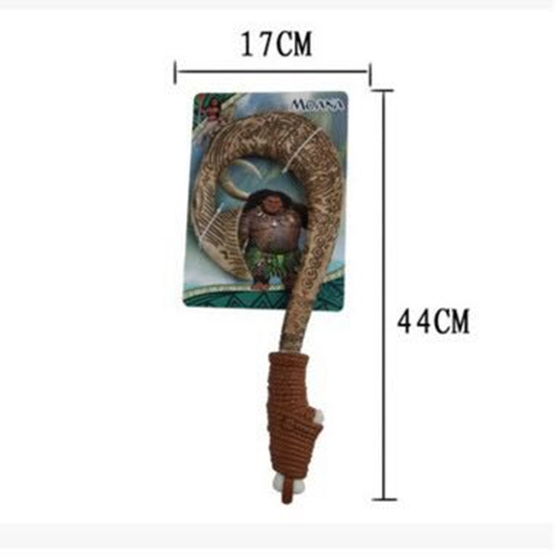 2018 42cm Moana Maui weapon cosplay model fishing hook action figure toy can make light&sound Oyuncak for kids party supply gift moana waialiki maui heihei weapons light sound saber fishing hook action figures toy for children gift
