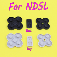 Grey conducting button rubber silicone dpad pad RL LR L R left right keypad for NDSL/DSL/Nintendo DS Lite game repair стоимость