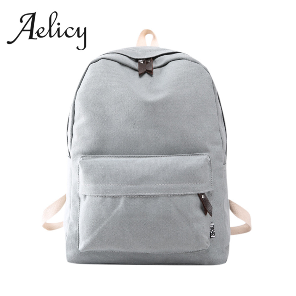 Girls Canvas Preppy Shoulder Bookbags School Travel Backpack Bag Travel Canvas Backpack For Teenage Girls
