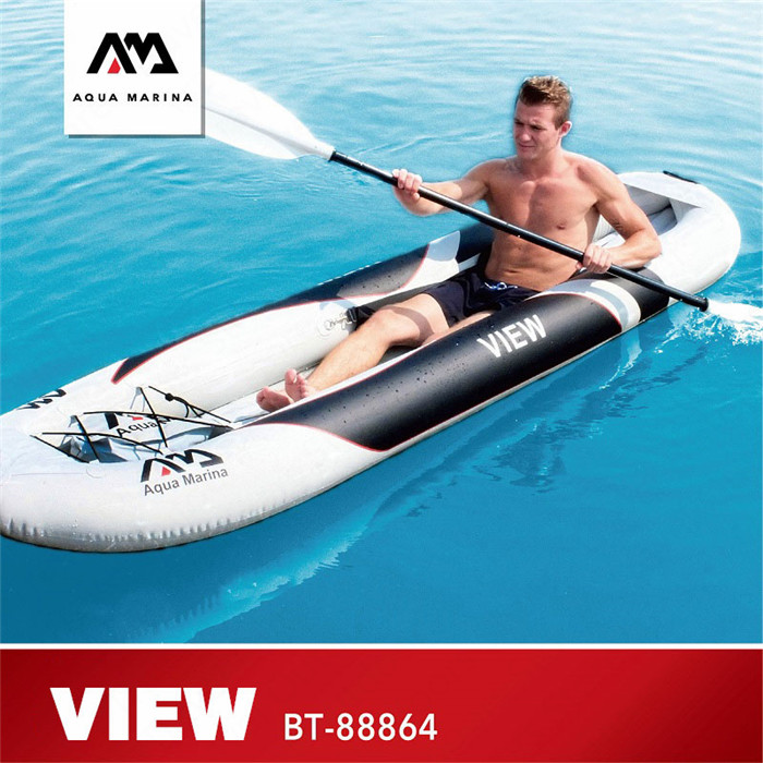 AQUA MARINA New Inflatable Boat VIEW Kayak Transparent Viewport Sport Kayak Canoeing With High Back Seat