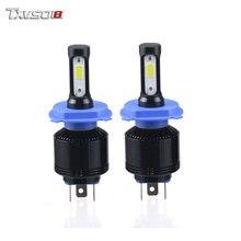 TXVSO8 H4 H7 LED Car Light Bulbs COB Chips 12000LM 6000K Bombilla H9 Turbo H11 H8 Led Fog Headlight 72W Automotivo 9005 Hb3 Lamp
