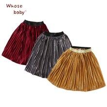 2017 Newborn Girl Clothing Kids Skirt Corduroy Tutu Winter Pleated Skirts for Girls Fashion School Long Tulle
