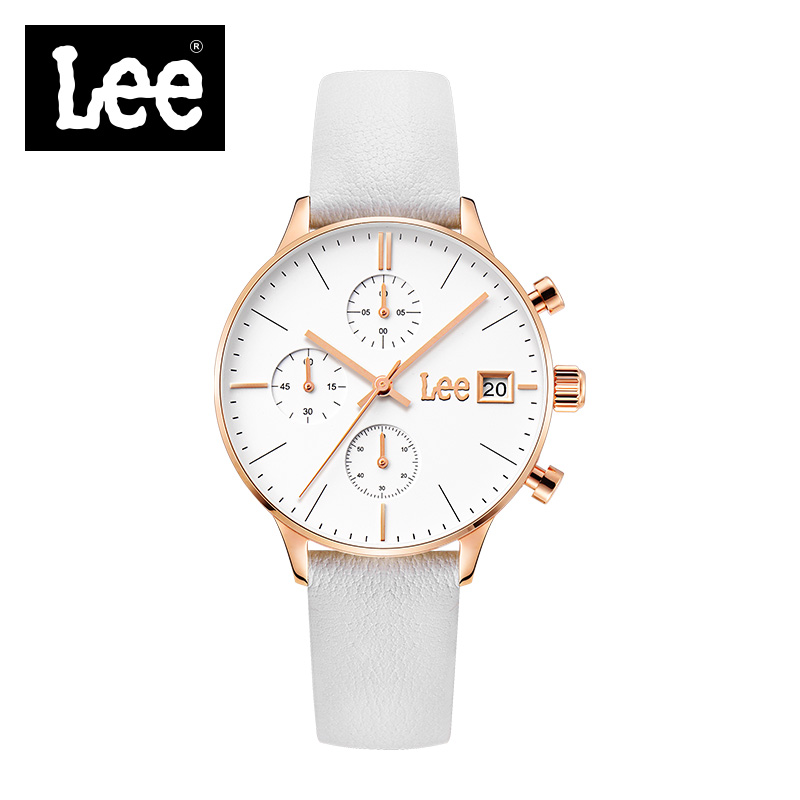 Lee Famous Luxury Brand Women Watch Quartz Analog Watch Genuine Leather Band Complete Calendar With Gift Box relojes mujer F115 2016 weiqin famous brand business women watch 5 atm leather strap analog calendar function female quartz watch reloj mujer