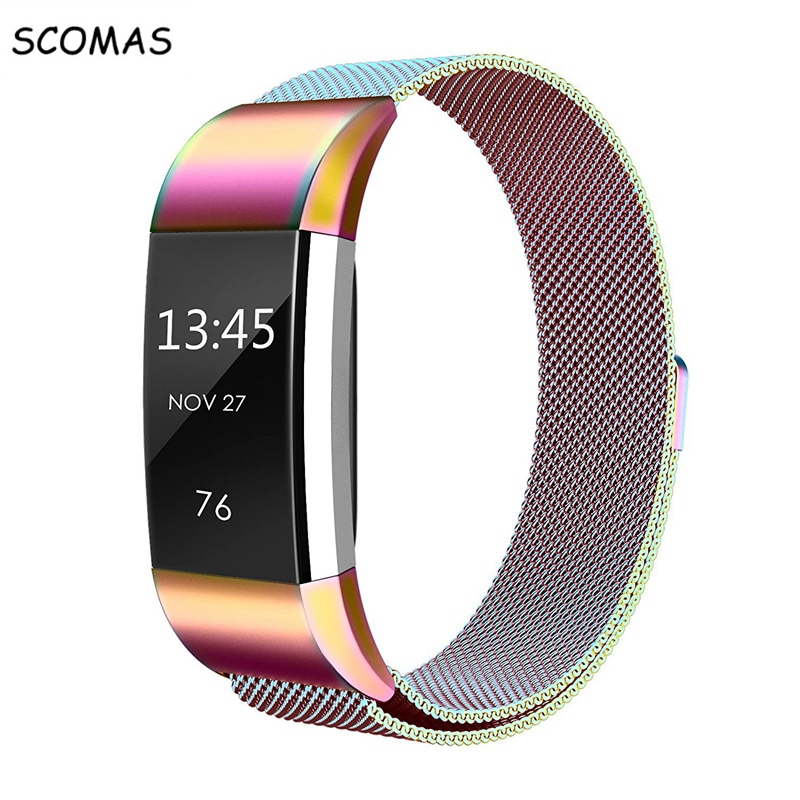 SCOMAS Magnetische Milanese edelstahlarmband für Fitbit Ladung 2 band für lade 2 smart armband armband armband charge2