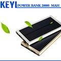 Солнечная Энергия Банк 20000 мАч Универсальная Внешняя Батарея Зарядное Устройство для xiaomi power bank 20000 мАч powrbank