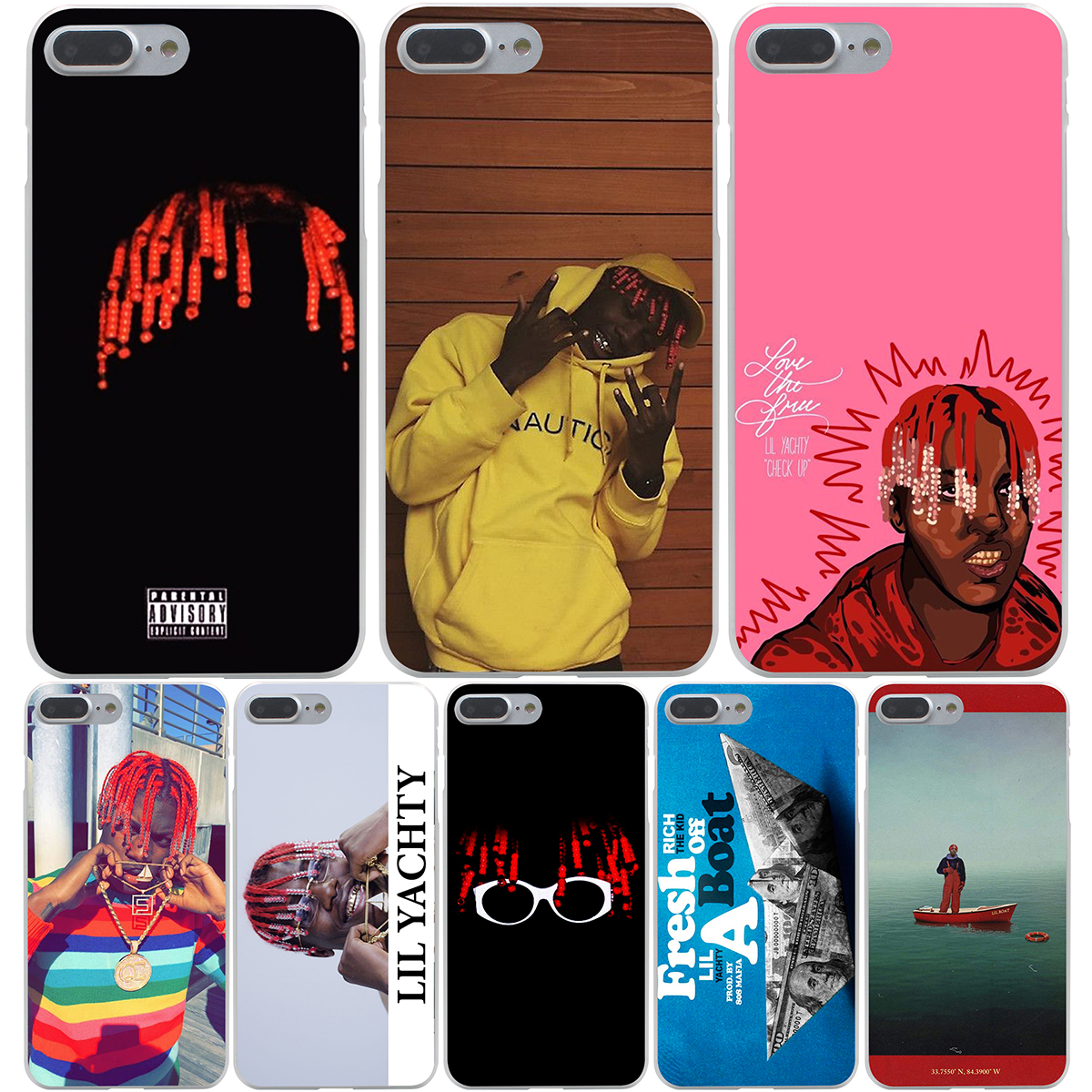 LIL YACHTY LIL BOAT Hard Transparent Cover Case for font b iPhone b font font b