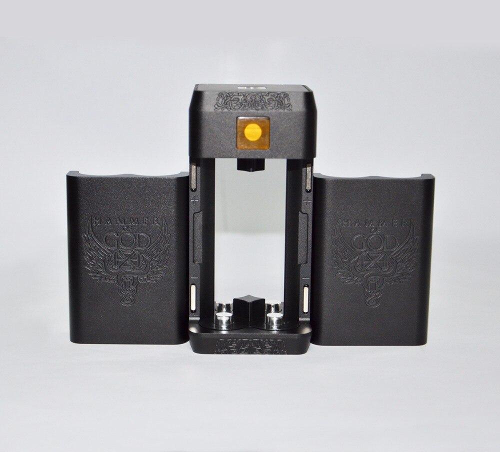 Cigarette électronique Vaporisateur Marteau de Dieu V4 Boîte Mécanique Mod fit 4*21700 Batterie Énorme Puissance pour Mech RDA RTA 510 Atomiseurs Réservoir - 5