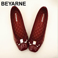 Elegant Bowtie Patent Leather Flats Women Boat Shoes Casual Flat Heel Brand Shoes Womens Flats Soft Design Free Shipping