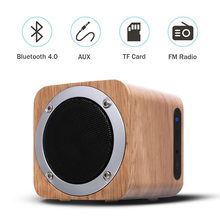 Nasin B06 Retro wooden bluetooth speaker wood square radio FM woofer boombox caixa de som portatil altavoz alto falante(China)