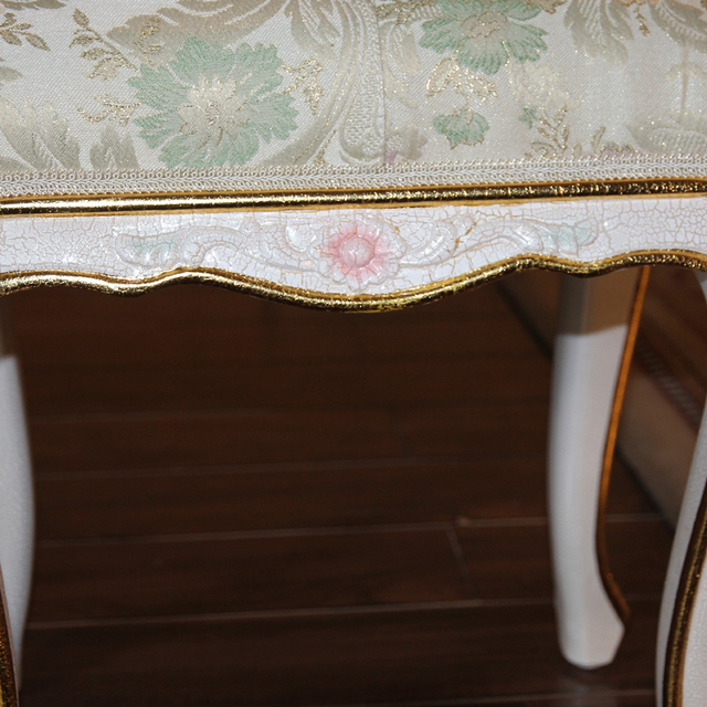 French provincial home furniture -china factory wholesale best price  baroque hand carved leaf gilding dressing stool