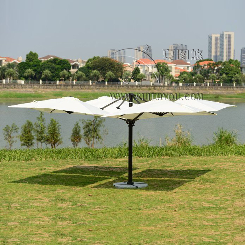 2.5*2.5 Meter Garden Big Sun Umbrella Parasol Patio Cover With 4 Covers For  Outdoor Furniture