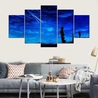 Modern Frames For Paintings Canvas Home Decor Art Print Modular Pictures 5 Panel Persons And Meteor
