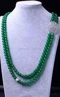 2 rangées 8mm vert perles en pierre ronde collier 18 pouces en gros perles nature cadeau discount FPPJ