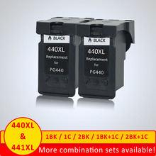 Xiangyu Black PG440 XL PG 440 PG 440 Refilled Ink Cartridge for Canon PIXMA MG2180 MG2240