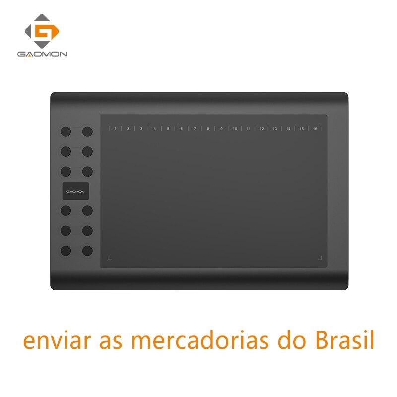 Profesional gráficos tableta para dibujo GAOMON M106K 10x6 pulgadas USB tabletas arte Digital