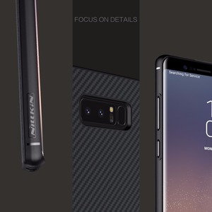 Image 3 - Nillkin Synthetic fiber for samsung galaxy note 8 case Carbon Fiber PP Plastic Back Cover for samsung note 8 case luxury 6.32