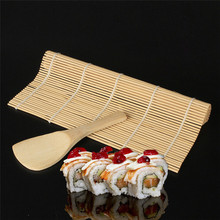 High Quality Sushi Maker Kit Rice Roll Mold Kitchen DIY Mould Roller Mat Rice Paddle Set New 5.30