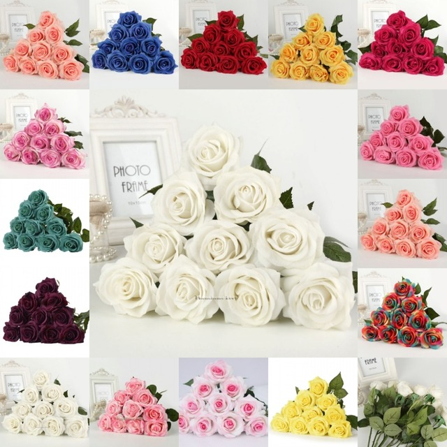 20 Heads 7cm Flower Real Latex Touch Rose Flowers Bouquet Flower ...