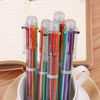 50pcs/set Creative 6 Color In 1 Ballpoint Pen Cute Student Stationery Multi color Pen In Oil Pen Color Pen Factory Direct Sales