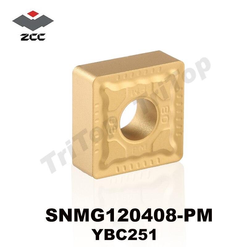 FREE SHIPING  SNMG 120408 -PM YBC251 ZCC.CT CUTTING TOOL TURNING INSERT  For MSSNR MSKNR MSBNR MSRNR Series Lathe Tool SNMG432