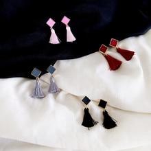 Traditional Geometric Tassel Earrings