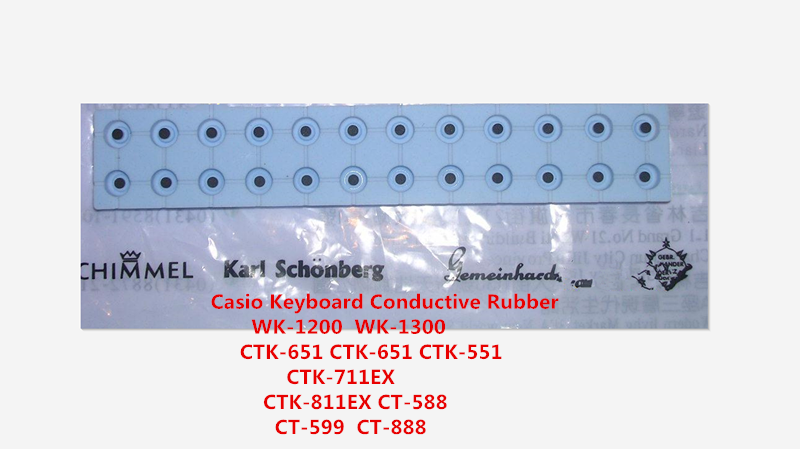 For Casio Keyboard Conductive Rubber  WK-1200  WK1800  WK-1300 CTK-651 CTK-651 CTK-551 CTK-711EX CTK-811EX CT-588 CT-599  CT-888