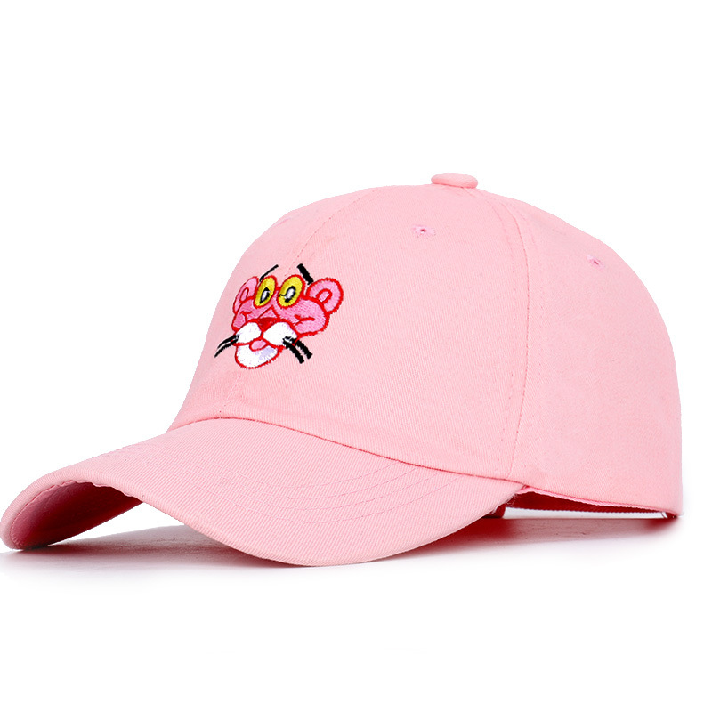 New Fashion Cartoon Embroidered   Baseball     Cap   Trend Brand Hip Hop Hat Man Woman Pink Panther High Quality Adjustable Bone