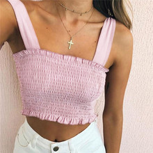 FEITONG Sexy tank tops tees lingerie Fashion Women Short Casual Tank Tops Vest Bow Bandage Halter crop tops women