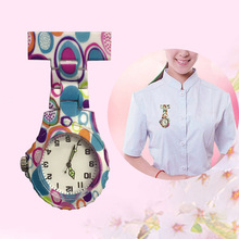 Nurse Watch Pocket Silicone Brooch Doctor Round Quartz Colorful Newly