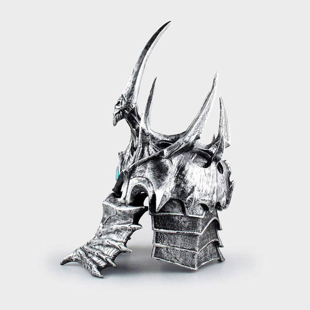 Hot 1:1 World of War craft WOW Lich King Death Knights Helmet Cosplay props toys Anime Figure Collectible Model Toy 3