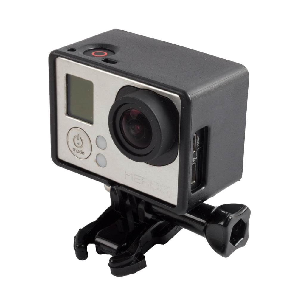 For Gopro Hero3 Camera border Reserved display position Motion camera extended Border Frame Mount Protective Housing свитшот reserved
