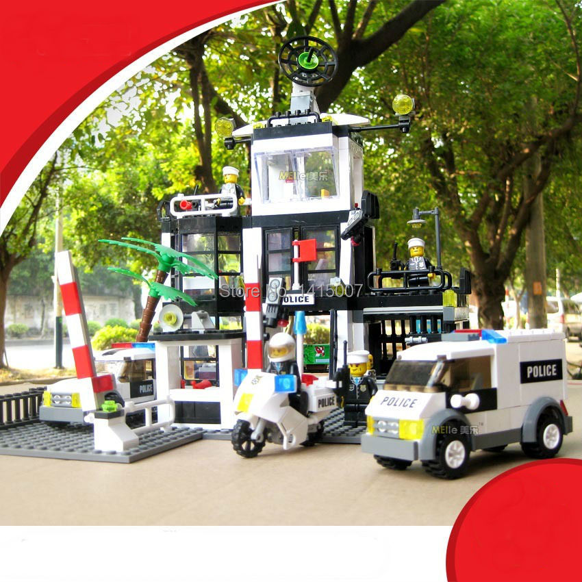 ФОТО Police Stations Building Blocks Sets 631pcs Kazi 6725 Educational Toys Brick Compatible With  Without Original Box