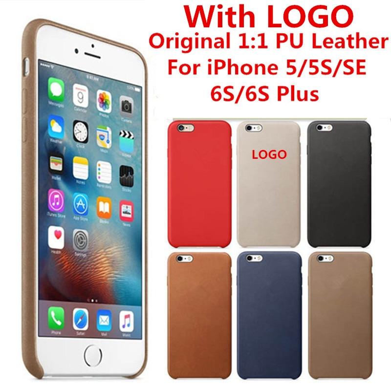 Luxury <font><b>Case</b></font> For <font><b>iPhone</b></font> 5 5S SE <font><b>6</b></font> 6S Plus 7 Plus PU Leather With LOGO Original 1:1 Copy Back Cover Official <font><b>Cell</b></font> <font><b>Phone</b></font> bags <font><b>Cases</b></font>
