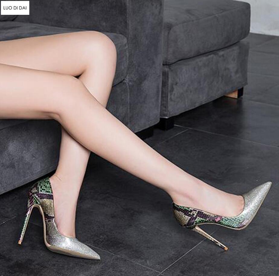 Cuir Hauts En Violet Pourpre Chaussures Toe Soirée argent Talons Talon Pompes Mince Nouveauté Femmes Paillettes Point 2019 De Gradient Habillées Couleur qCggTw