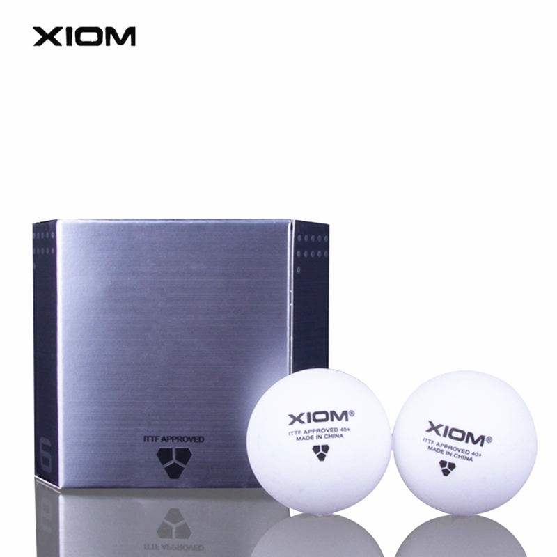 XIOM Original Table Tennis Balls 3 Star 40+ Seamless New Material Plastic Poly ITTF Approved Ping Pong Ball