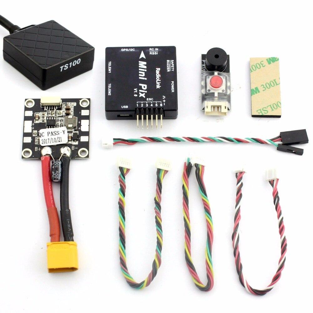 Oyuncaklar ve Hobi Ürünleri'ten Parçalar ve Aksesuarlar'de Radyolink Mini PIX M8N GPS Uçuş Kontrol Titreşim Sönümleme Yazılım Atitude Tutun RC Racer Drone Quadcopter Multicopter'da  Grup 1