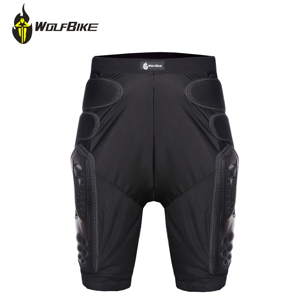 Wolfbike Moto Pantalon Respirant Homme Motocross Course Protection Pad Moto Pantalon Sports de Plein Air Cyclisme Pantalon