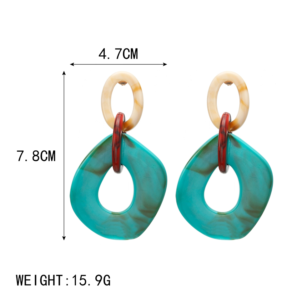 2020 Women Acrylic Minimalist Earrings Charm Statement Earring Pendant Fashion Jewelry Gifts Pendientes Brincos amazing price