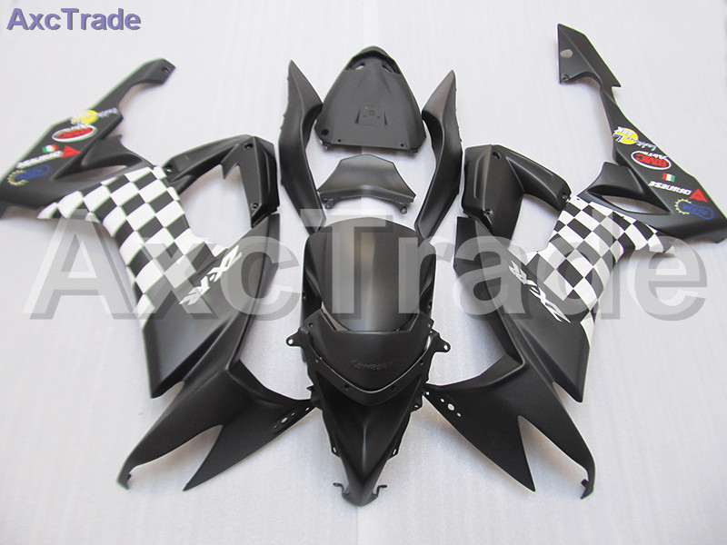 High Quality ABS Plastic For Kawasaki Ninja ZX10R ZX-10R 2008 2009 2010 08 09 10 Moto Custom Made Motorcycle Fairing Kit Black black moto fairing kit for kawasaki ninja zx14r zx 14r zz r1400 zzr1400 2006 2007 2008 2009 2010 2011 fairings custom made c549
